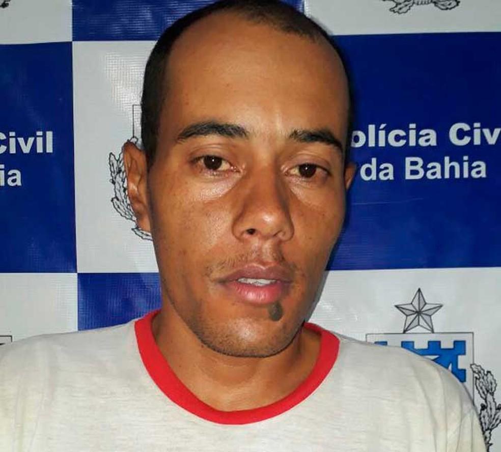 Mateus dos Santos foi preso suspeito de estuprar a enteada de 12 anos no sudoeste da Bahia (Foto: Divulgação/Polícia Civil)