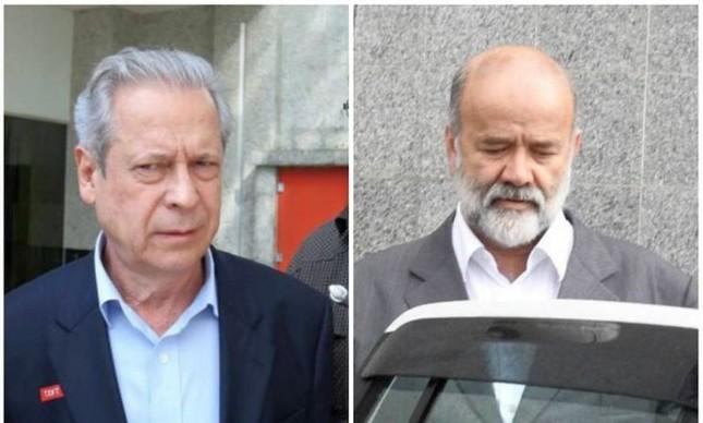 José Dirceu e João Vaccari Neto