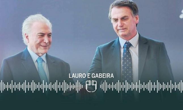 Michel Temer e Bolsonaro: carta-recuo foi orientada pelo ex-presidente