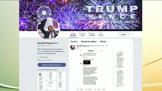 Filho de Trump e Wikileaks trocaram mensagens durante campanha presidencial nos EUA