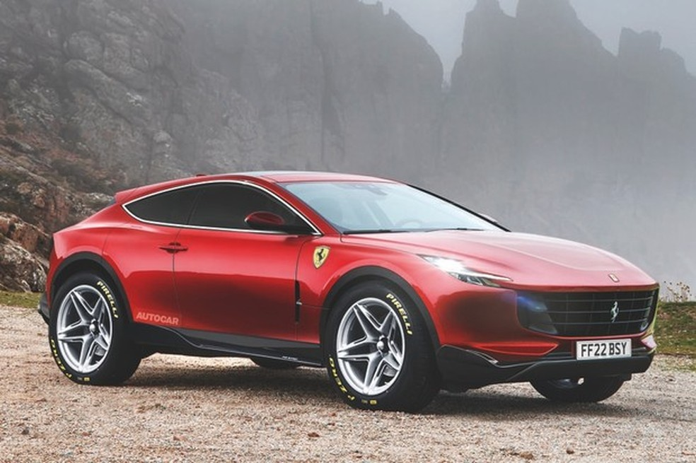 O futuro Ferrari Purosangue, imaginada pela Autocar (Foto: Autocar) — Foto: Auto Esporte