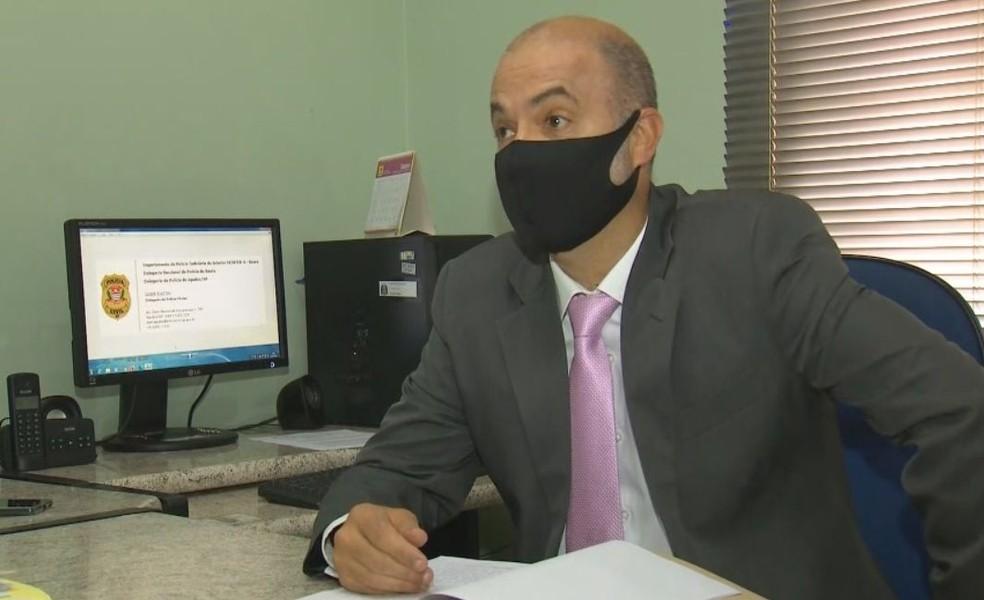 Delegado Jader Biazon é responsável pelo caso em Agudos  — Foto: TV TEM/ Reprodução