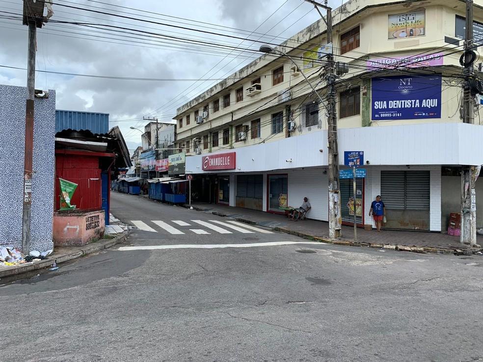 Alecrim registrou ruas vazias nos últimos dias — Foto: Anna Alyne Cunha/Inter TV Cabugi