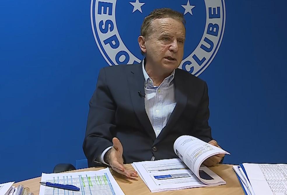 Vittorio Medioli, CEO do Cruzeiro — Foto: Reprodução/TV Globo