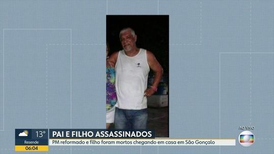 PM aposentado e o filho são mortos ao chegar em casa no RJ