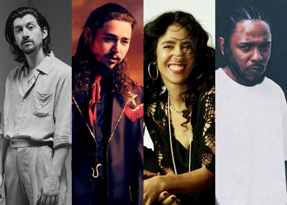 Arctic Monkeys, Post Malone, Tribalistas e Kendrick Lamar são atrações do Lollapalooza 2019 — Foto: Divulgação