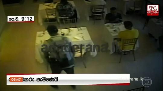 Imagens mostram momento em que homem detona explosivos em hotel de luxo no Sri Lanka