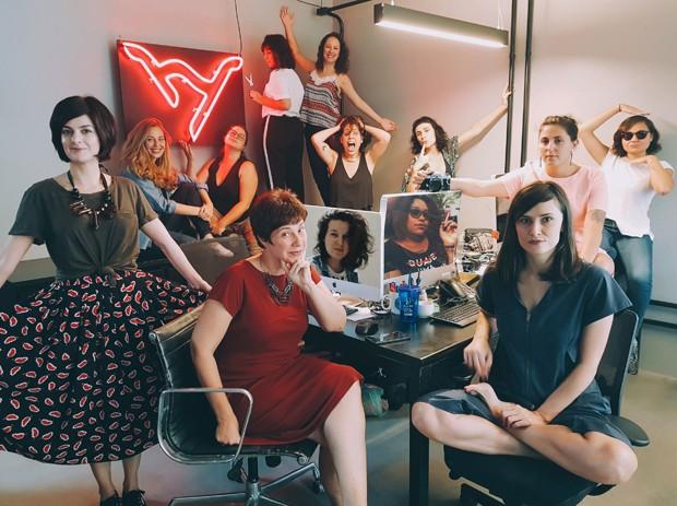 A equipe da plataforma Hysteria (Foto: Guilherme Valente)
