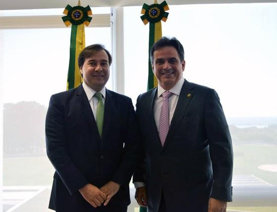 Rodrigo Maia e Ciro Nogueira (Foto: Reprodução/Facebook)