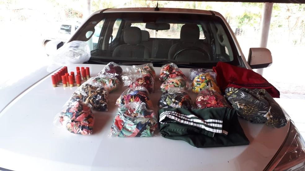 Produtos foram recuperados pela polícia na operação — Foto: Polícia Civil de Mato Grosso/Divulgação