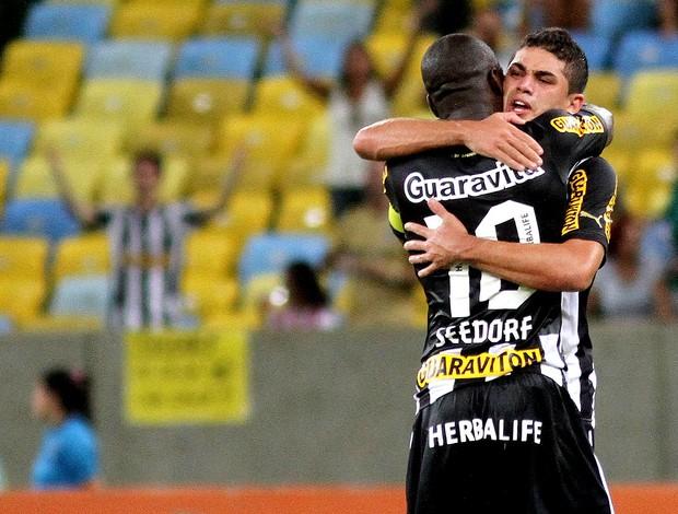 Gege comemoração jogo Botafogo e Flamengo (Foto: Vitor Silva / SSPress)
