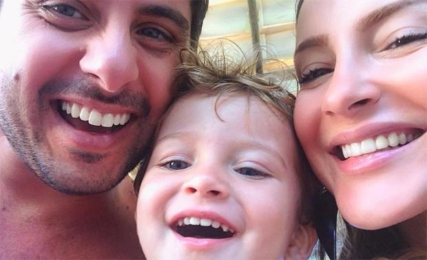 Márcio Pedreira, Claudia Leitte e o filho, Rafael (Foto: Reprodução / Instagram)