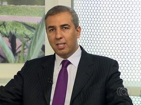 José Eliton, novo secretário de Segurança Pública de Goiás (Foto: Reprodução/TV Anhanguera)