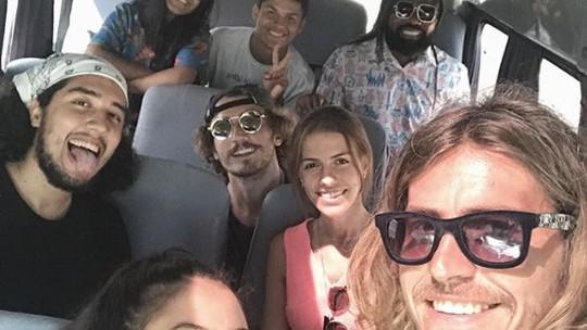 Hana, Alan, Danrley e Rodrigo, do BBB19, viajam com Alberto Mezzetti para Arraial do Cabo