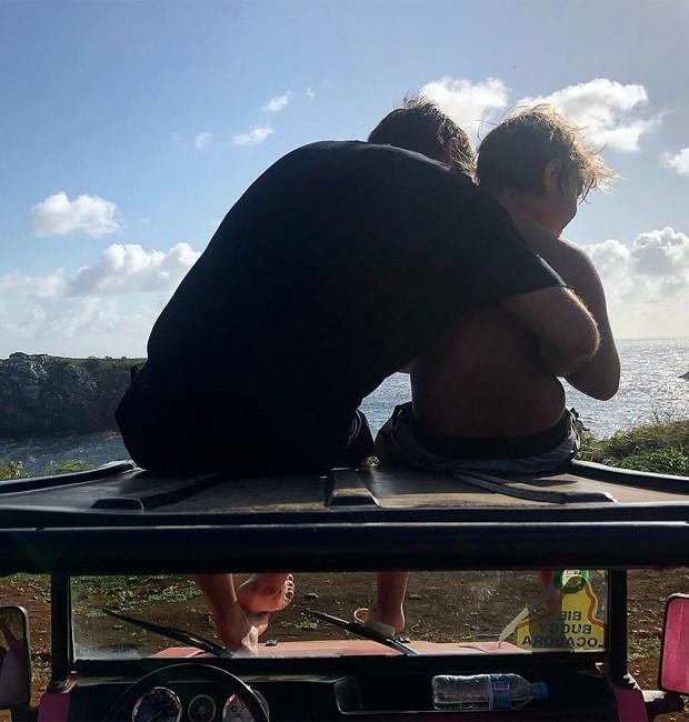 Vinicius Martinez, atual namorado de Carol Dantas, e Davi Lucca (Foto: Reprodução/Instagram)