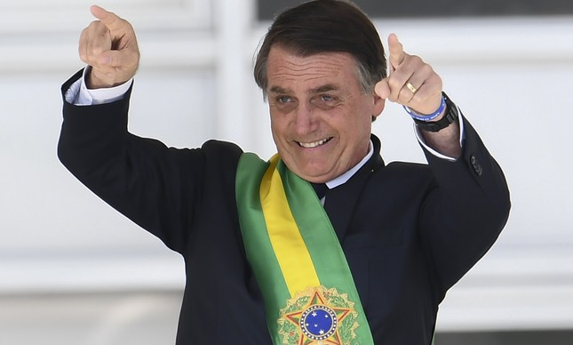 Presidente Jair Bolsonaro no Parlatório do Palácio do Planalto