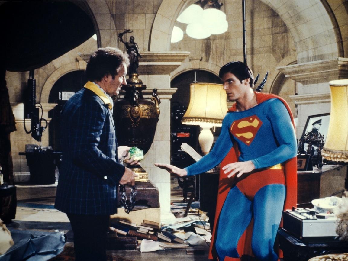 Lex Luthor (Gene Hackman) e Super-Homem (Foto: Divulgação)
