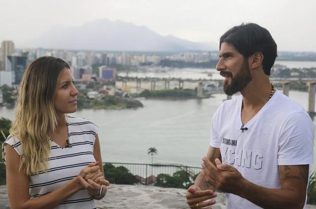 Bárbara Coelho e Loco Abreu (Foto: TV Globo/Gustavo Rotstein)