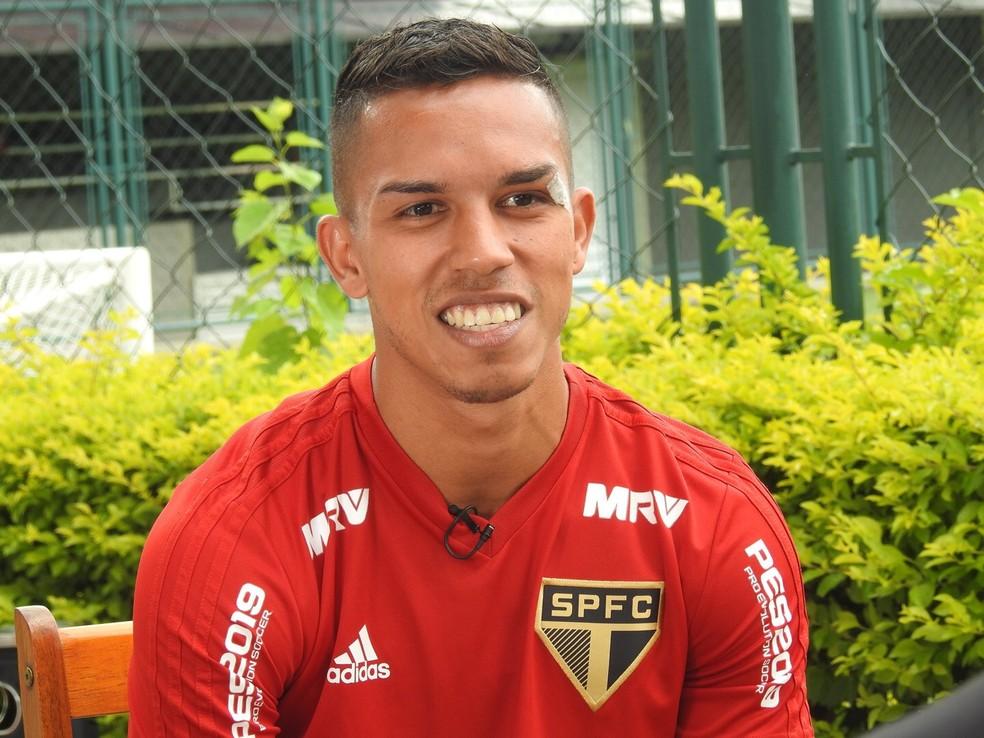 Igor Vinicius tem contrato de empréstimo com o São Paulo até o fim deste ano — Foto: Marcelo Hazan