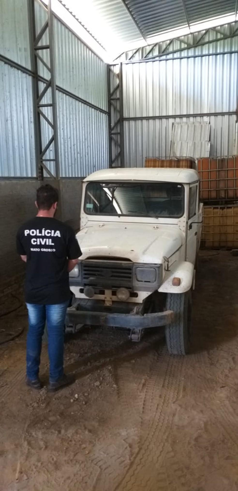 Polícia encontrou fazenda e caminhonete onde onças-pintadas teriam sido filmadas mortas em Cocalinho — Foto: Polícia Civil de Mato Grosso/Divulgação