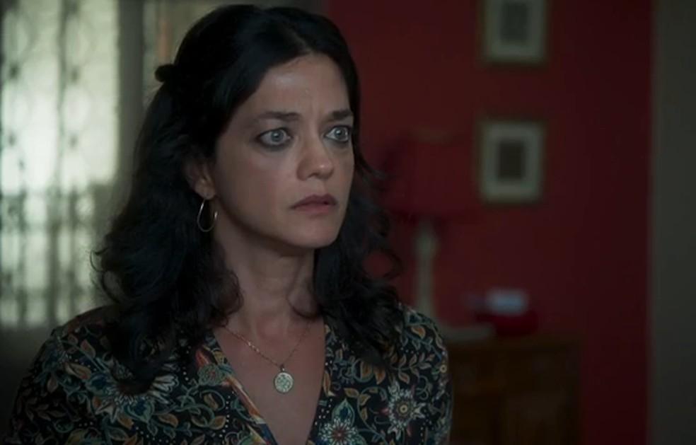 Missade (Ana Cecília Costa) se assusta com pedido de Samir — Foto: TV Globo