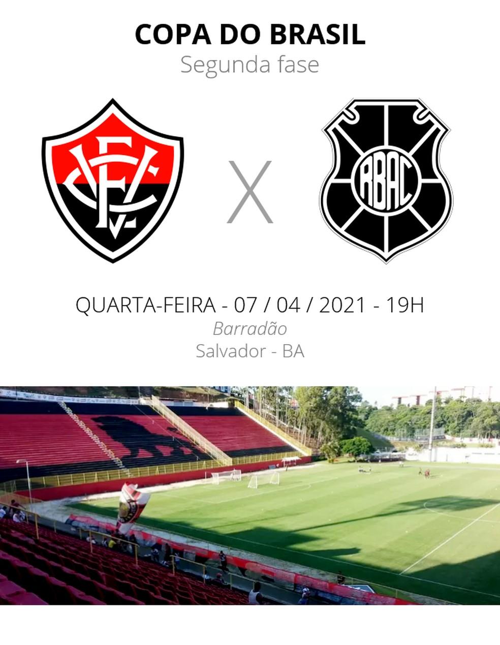 Vitória x Rio Branco-ES: saiba onde assistir e confira escalações, arbitragem e desfalques | copa do brasil | ge
