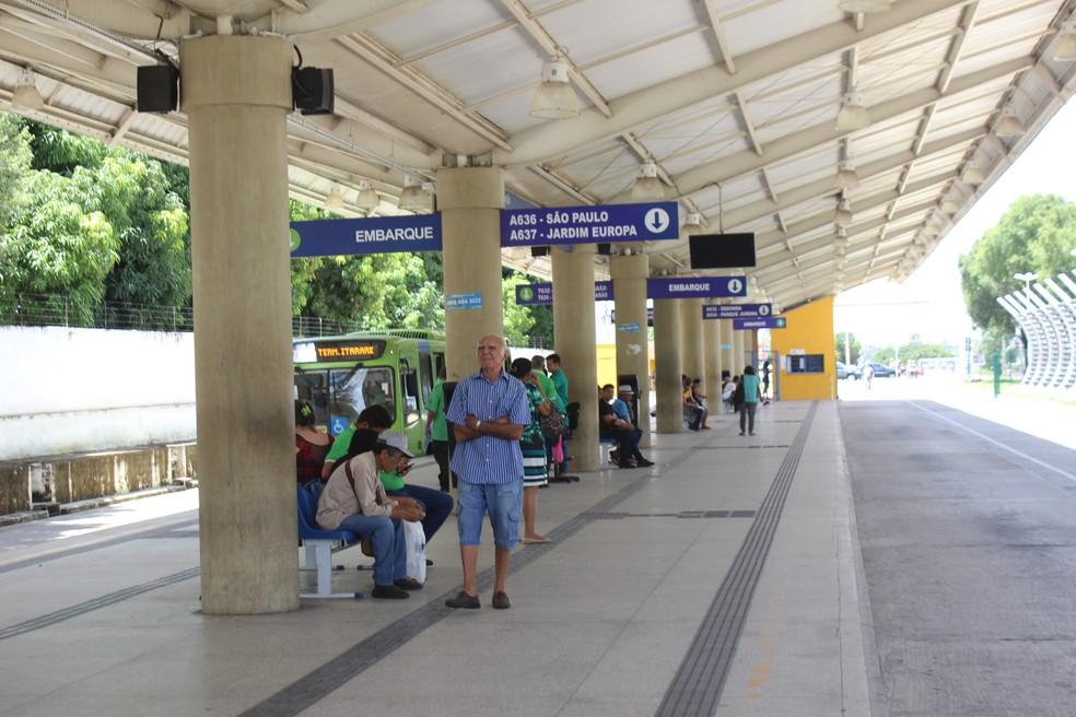 Terminal de integração do sistema de transporte público de Teresina — Foto: Lorena Linhares/G1 PI