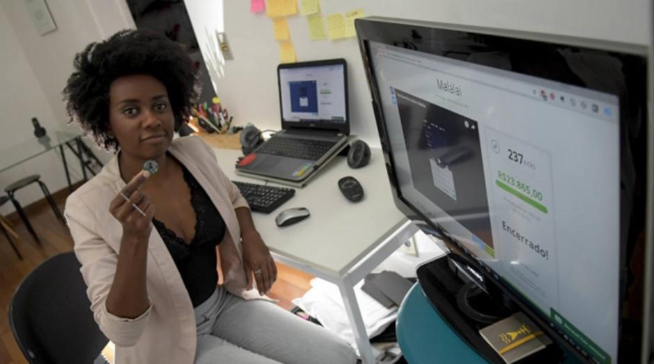 Priscila Gama conseguiu tirar a ideia da joia antipânico Malalai do papel com financiamento coletivo (Foto: Estadão Conteúdo)