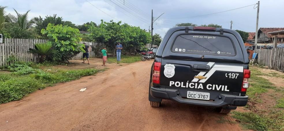 Idoso foi preso na manhã desta quarta-feira (27) suspeito de matar a própria mulher em Juara — Foto: Divulgação