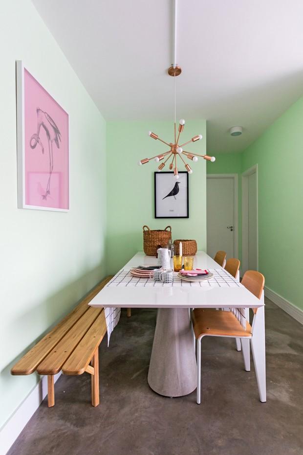Décor do dia: verde menta na sala de jantar