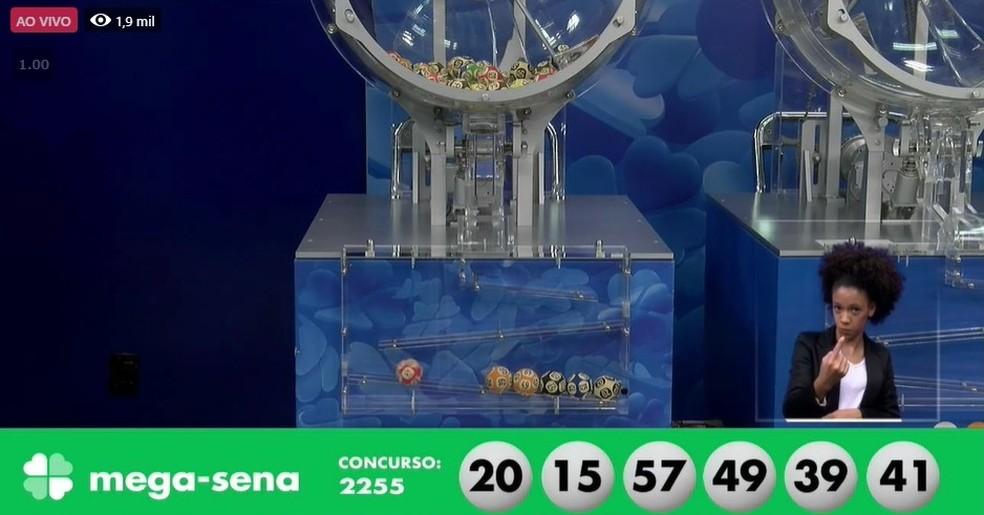 Mega-Sena concurso 2255 — Foto: Reprodução/Caixa