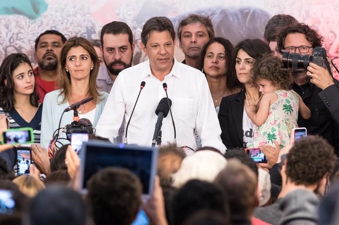 O candidato derrotado à Presidência, Fernando Haddad — Foto: Celso Tavares/G1