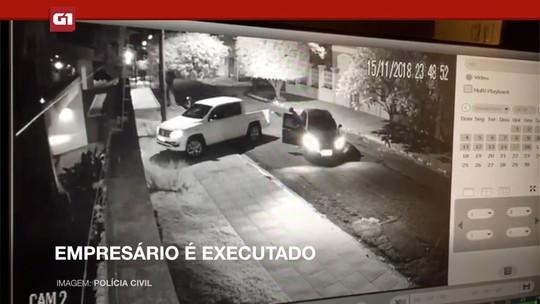 Empresário executado: polícia analisa novas imagens de câmeras de segurança e trabalha com hipótese de crime premeditado