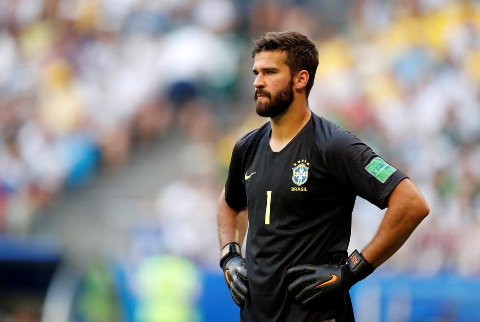 Alisson retorna à meta brasileira — Foto: REUTERS/Pilar Olivares