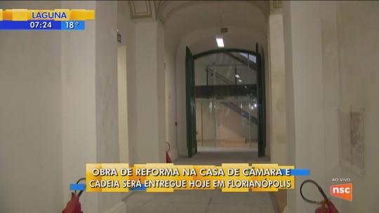 Após obras de restauração, Casa de Câmara e Cadeia de Florianópolis é entregue nesta sexta-feira