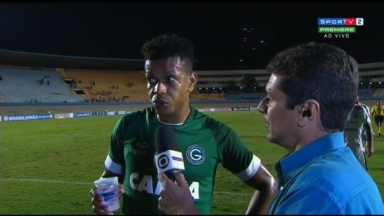 Edcarlos lamenta empate, mas vê Goiás em uma crescente na Série B