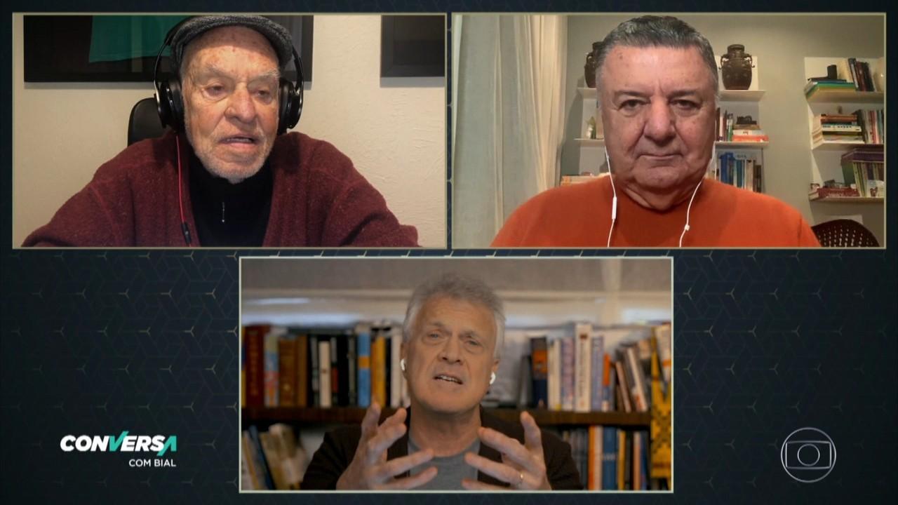 Ex-árbitros Silvio Luiz e Arnaldo Cezar Coelho falam sobre as 'regras' da quarentena