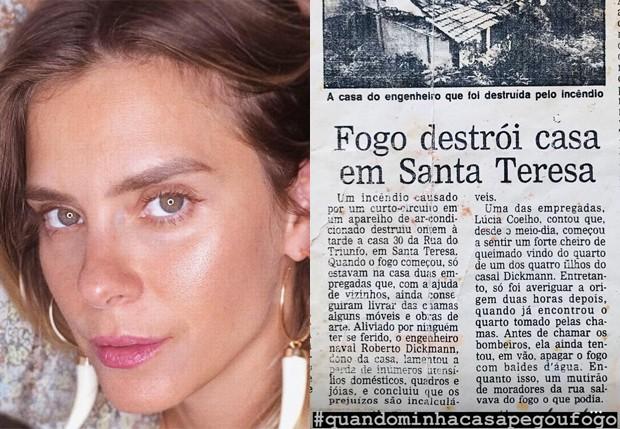 Carolina Dieckmann relembra incêndio em sua casa (Foto: Reprodução/Instagram)