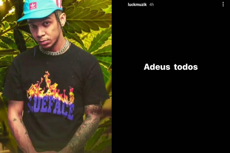 Luck Muzik posta despedida e preocupa web (Foto: Reprodução/Instagram)