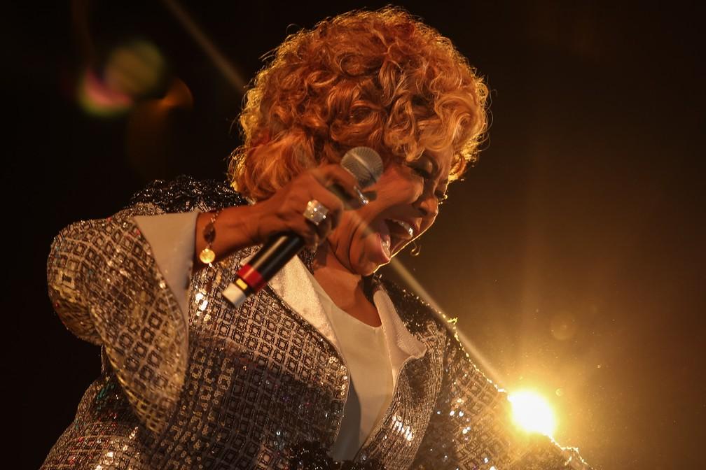 -  Alcione participa de apresentação de samba no Rock in Rio  Foto: Fábio Tito/G1