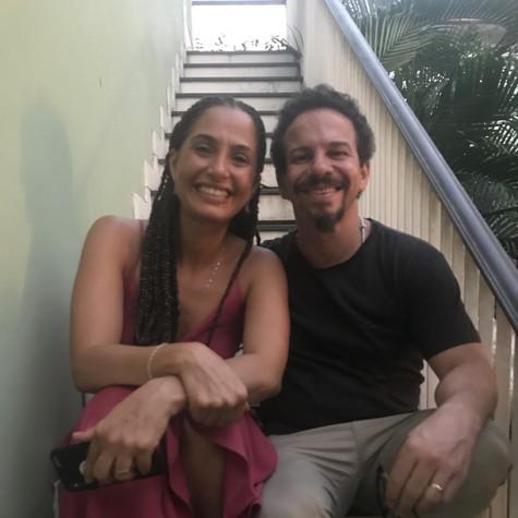 Camila Pitanga e o preparador de elenco Ricardo Connti (Foto: Arquivo pessoal)