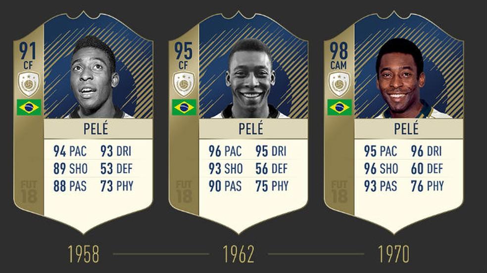 FIFA 18: confira as três cartas de Pelé (Foto: Divulgação / EA)