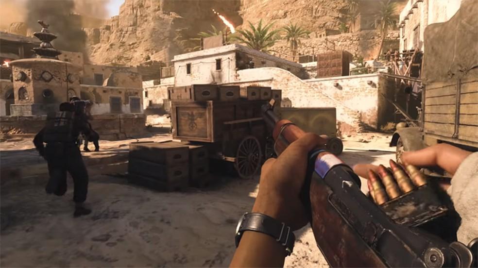 """Call of Duty WW2 volta às raízes da franquia com gameplay mais """"pé no chão"""" e temática de Segunda Guerra Mundial. — Foto: Reprodução/PlayStation"""