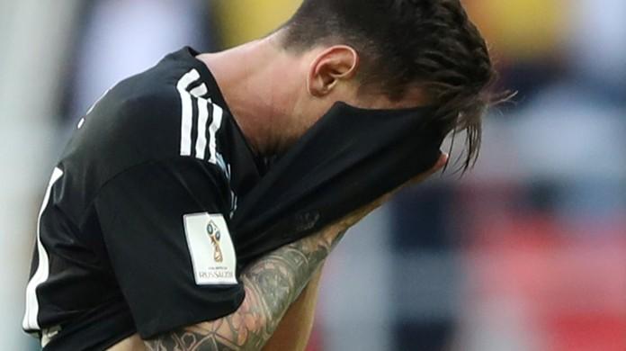 """Resultado de imagem para Messi segue confiante na Argentina, mas lamenta falha: """"Dói perder o pênalti"""""""