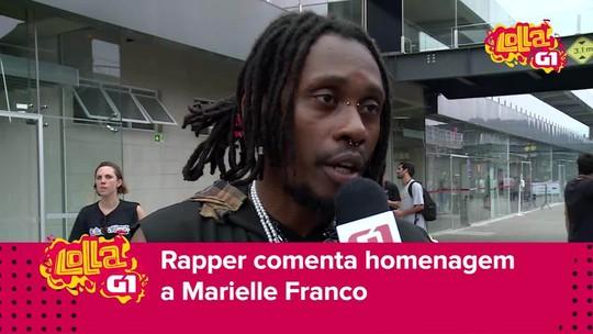 Rincon Sapiência fala de homenagem a Marielle Franco no Lolla: 'Importante criar lembrança eterna dela'; VÍDEO