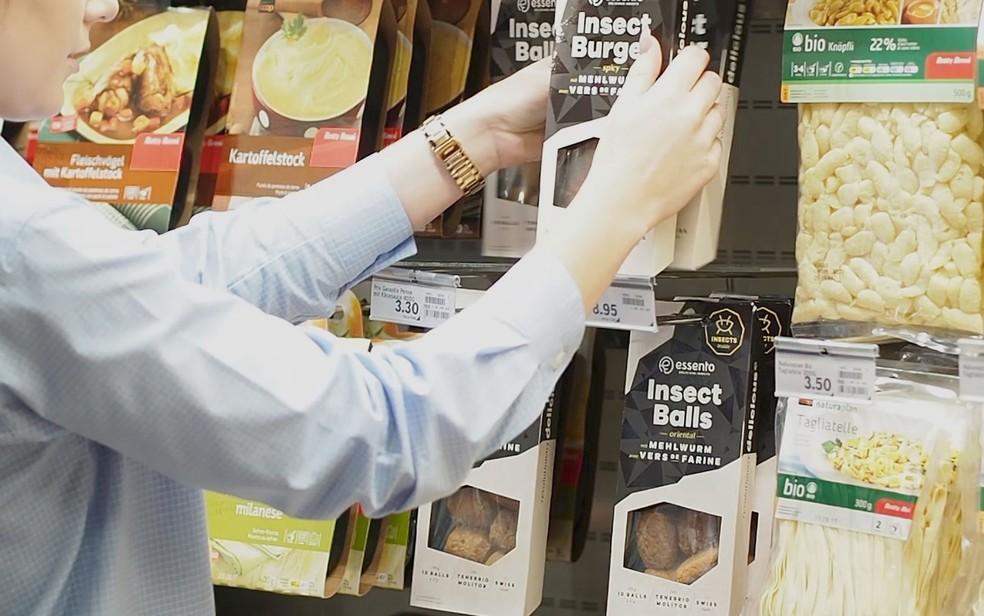 Alimentos feitos de insetos fazem sucesso na Suíça (Foto: Reprodução/BBC)