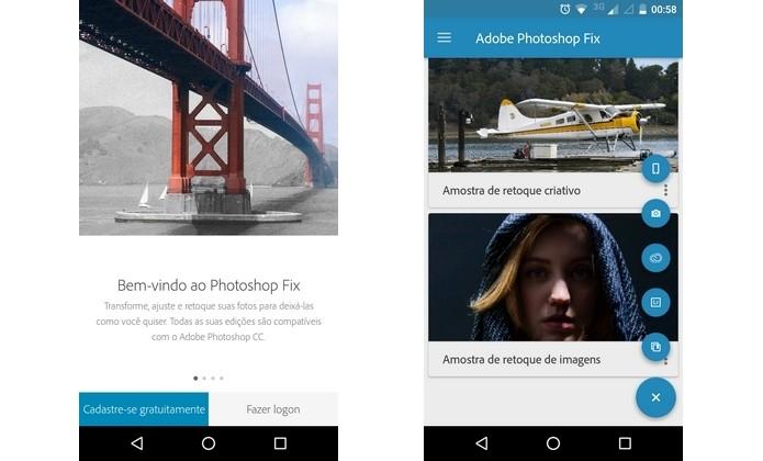 Adobe libera Photoshop Fix para Android (Foto: Reprodução/Raquel Freire)