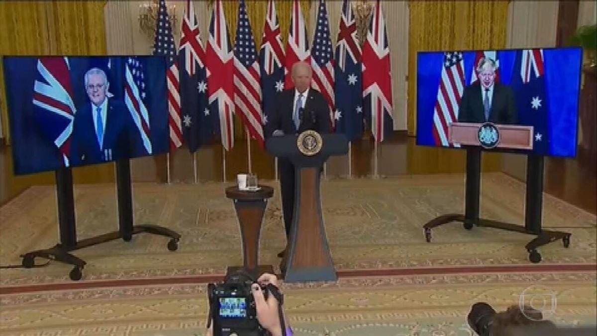EUA, Reino Unido e Austrália assinam pacto de segurança histórico