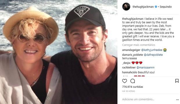 Hugh Jackman e Deborra-Lee Furness (Foto: Reprodução/Instagram)