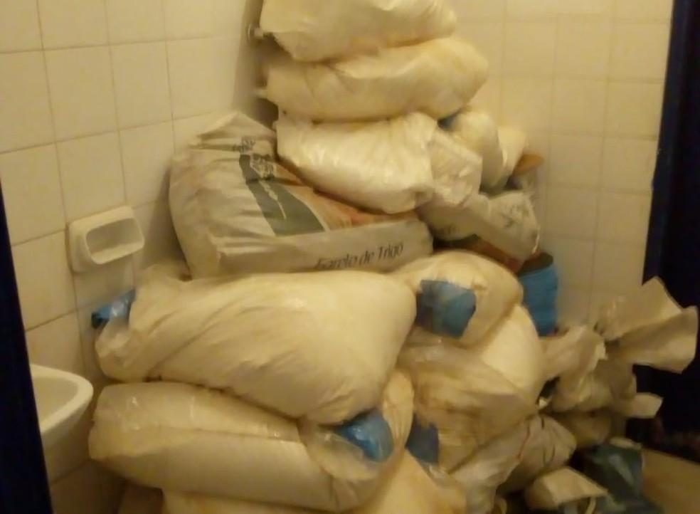A SSP informou que os policiais chegaram a um esconderijo usado por contrabandistas, após denúncias anônimas.  — Foto: Divulgação/SSP-BA
